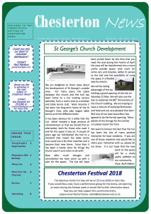 Chesterton news - March to May 2018